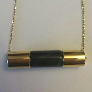 Michael Kors NWOT Black Agate city barrel pendant